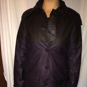 Purple Hunter waxed rain jacket